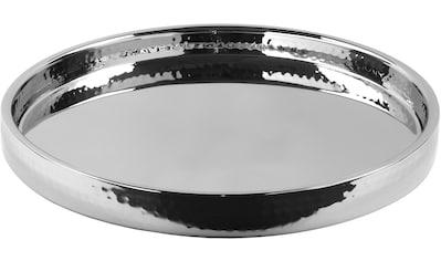 Fink Tablett »Titan«, klassisch, Ø 31,5 cm, gehämmert kaufen