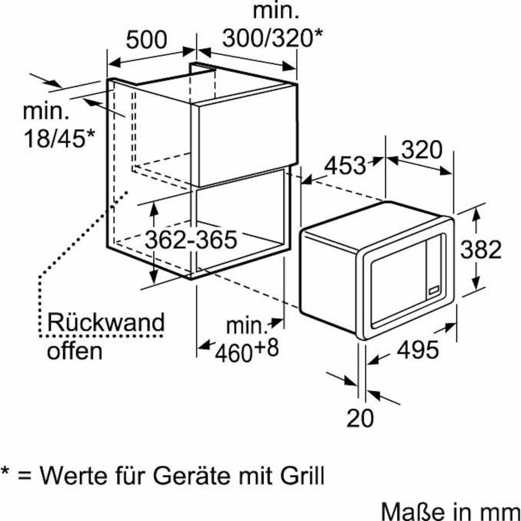 Constructa Einbau-Mikrowelle »CN151151«, Mikrowelle, 800 W
