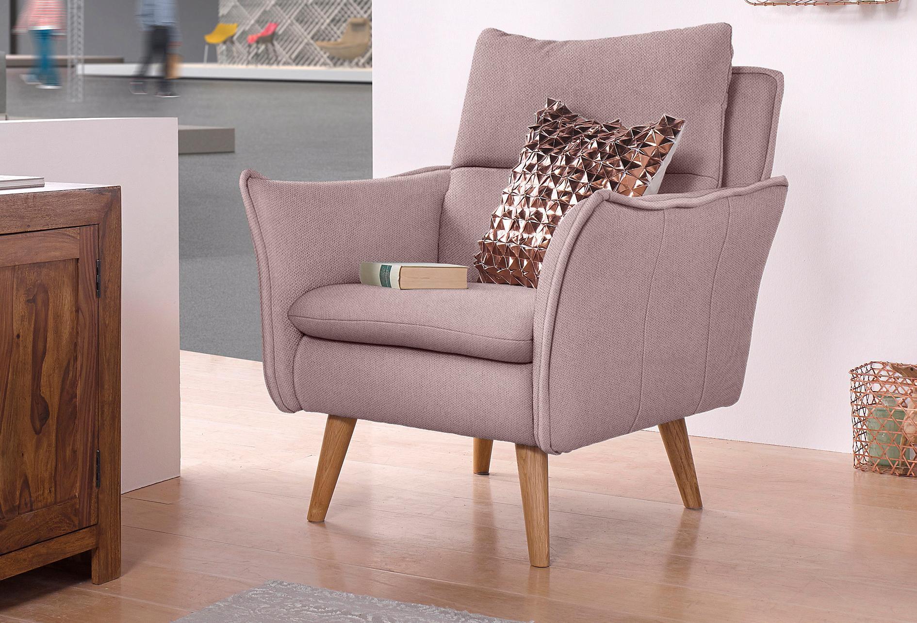 Home affaire Sessel mit Steppung im Rücken und 1 Zierkissen im gleichen Bezugsstoff