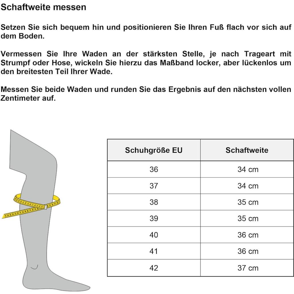 Rieker Stiefel, mit Zierschnalle am Schaft, XS-Schaft