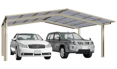 Ximax Doppelcarport »Linea Typ 80 M-Edelstahl-Look«, Aluminium, 530 cm,... kaufen