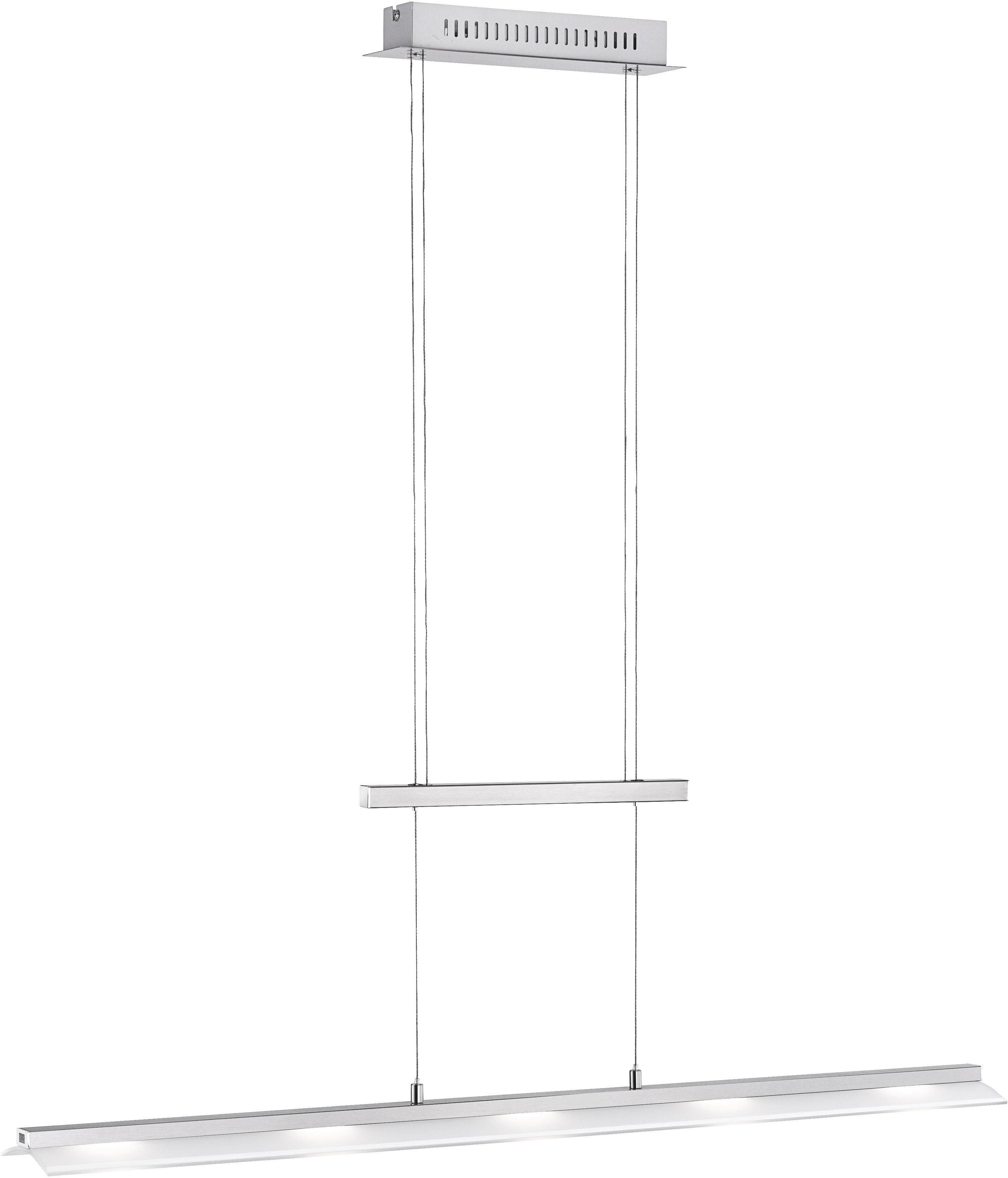 Paul Neuhaus Pendelleuchte NELE, LED-Board, Warmweiß-Neutralweiß-Tageslichtweiß, Hängeleuchte, inklusive Sensor- Dimm- und Memory-Funktion, Farbtemperatur verstellbar von warmweiß bis tageslichtweiß, höhenverstellbar