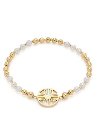 LEONARDO Edelstahlarmband »Blume, Susanna, 019708«, mit Perle (imitiert), Perlmutt kaufen