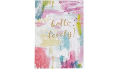 Art for the home Leinwandbild »Hello Lovely«, Sprüche, mit Glitzer kaufen