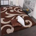 Paco Home Teppich »Diamond 761«, rechteckig, 18 mm Höhe, 3D-Design, Kurzflor mit Ornamenten, Wohnzimmer