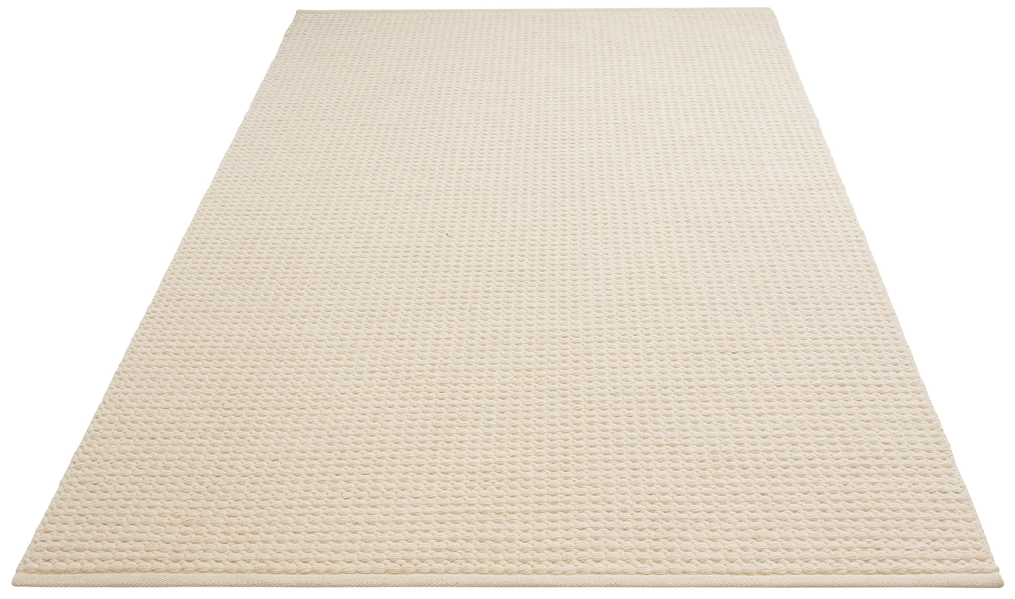 DELAVITA Teppich Sanara, rechteckig, 13 mm Höhe, Strickoptik, Wohnzimmer beige Esszimmerteppiche Teppiche nach Räumen