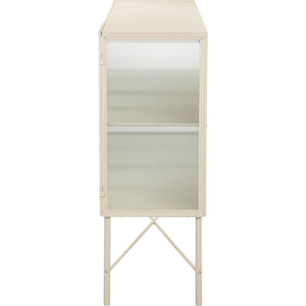 LeGer Home by Lena Gercke Sideboard »Almira«, Türen mit Riffelglas, Zeitloses Design, in 2 Farben erhältlich