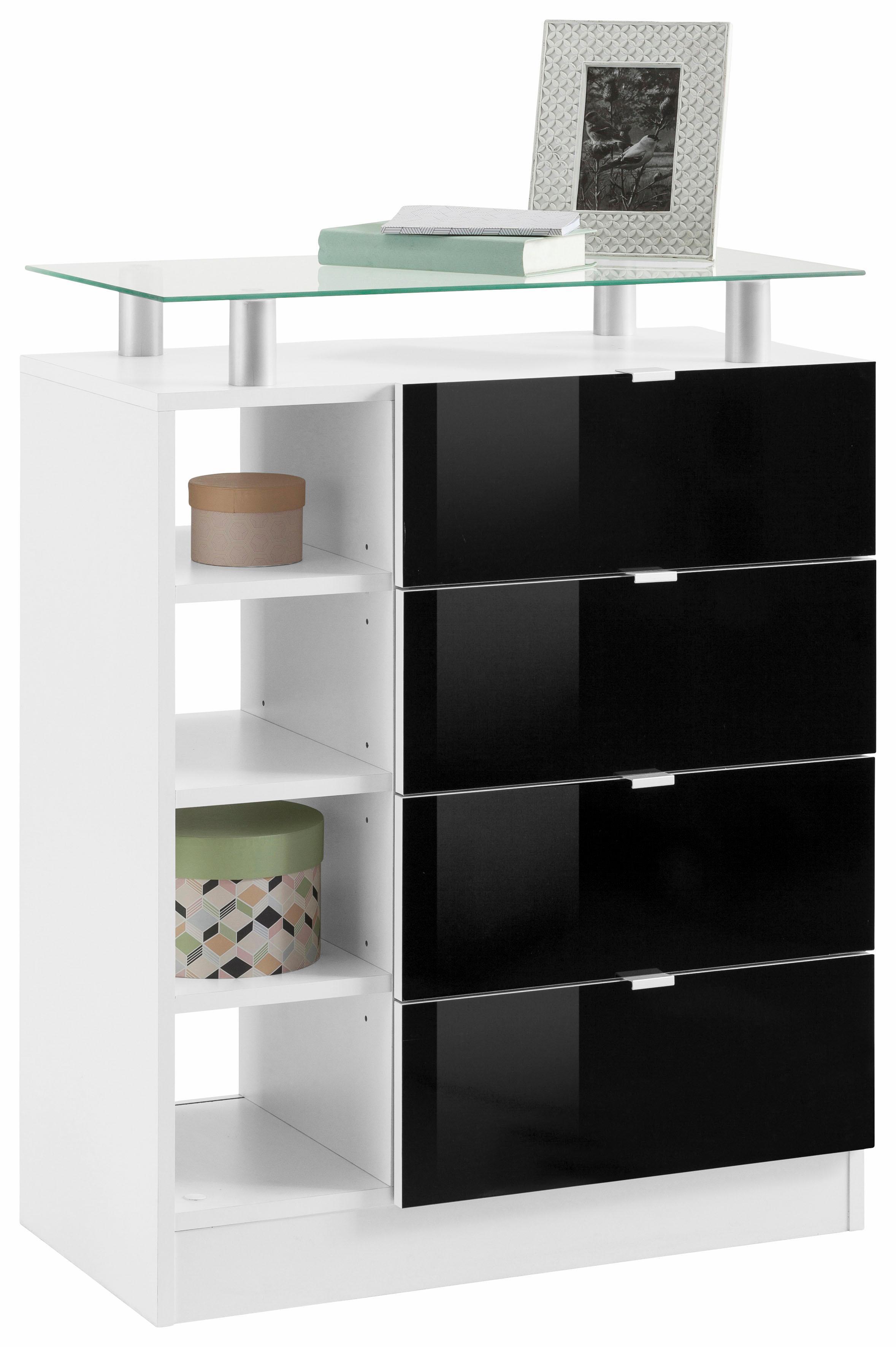 Borchardt Möbel Kommode, »Dolly« Breite 67 cm, mit Glasablage