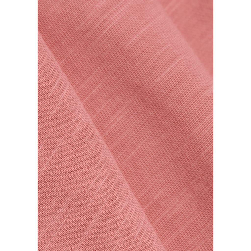 Esprit T-Shirt, mit Flügelarm und Lochmuster