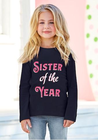 KIDSWORLD Langarmshirt »SISTER OF THE YEAR«, mit Druck kaufen