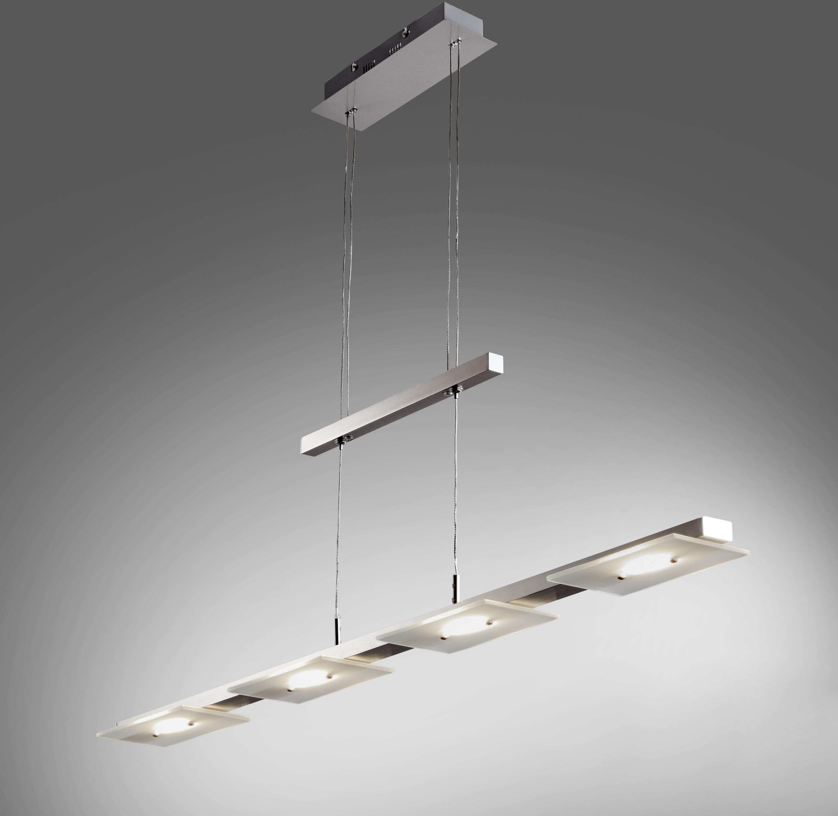B.K.Licht LED Pendelleuchte Aries, LED-Board, Warmweiß, LED Deckenleuchte Design Pendel-Leuchte inkl. 18W 1600lm Hänge-Lampe Esszimmerlampe