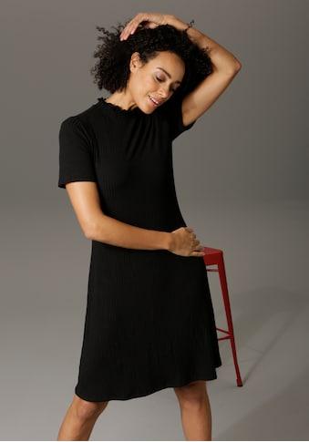 Aniston CASUAL Sommerkleid, mit Smok am Stehkragen - NEUE KOLLEKTION kaufen