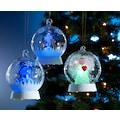 KONSTSMIDE LED Dekolicht, Farbwechsler, Glaskugel Schneemann für den Innenbereich, mit 3 Funktionen,1 RGB Diode, RGB-Farbwechsel, 6h Timerfunktion, batteriebetrieben