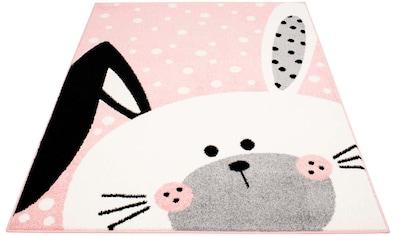 Carpet City Kinderteppich »Bubble Kids 1316«, rechteckig, 11 mm Höhe, Hasen Design in pastell Farben kaufen