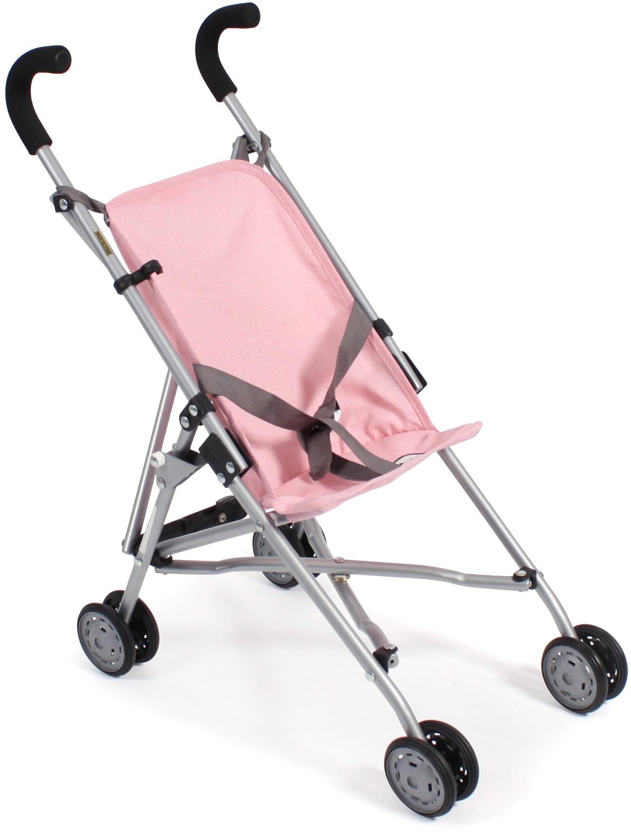 CHIC2000 Puppenbuggy Roma, grau-rosa rosa Kinder Puppenzubehör Puppen Puppenwagen