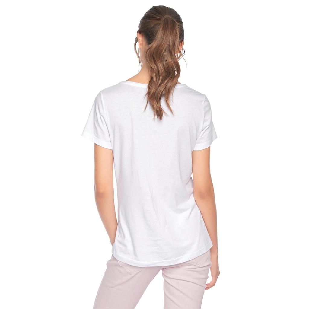T-Shirt mit Flamingo-Applikation