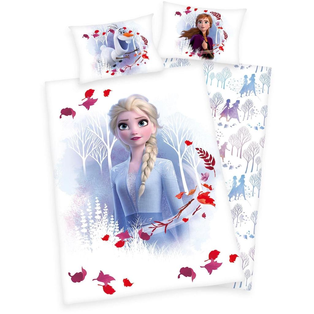 Walt Disney Babybettwäsche »Disney´s Eiskönigin 2«, mit Elsa, Anna und Olaf