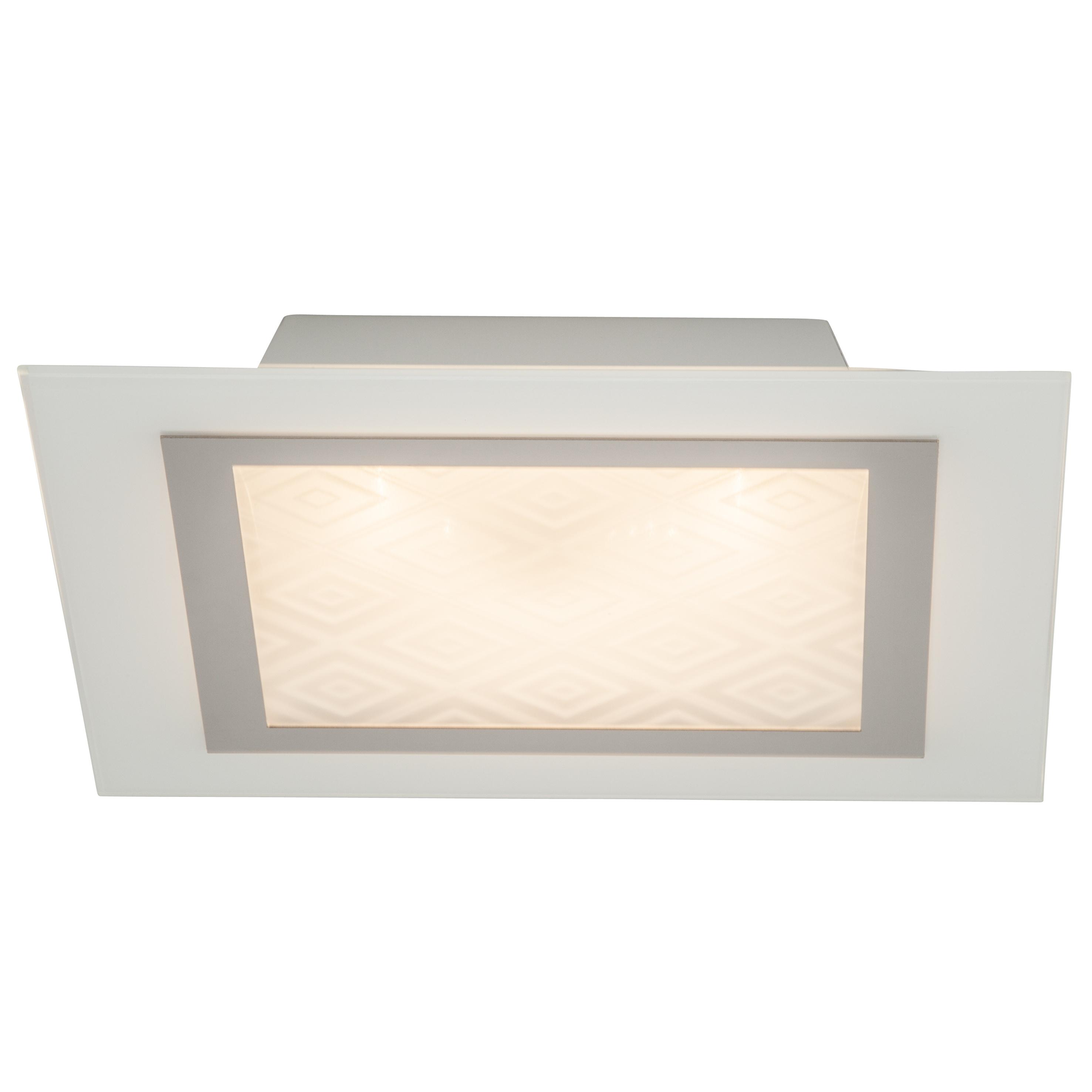 Brilliant Leuchten Rolanda LED Wand- und Deckenleuchte 30x30cm chrom/weiß