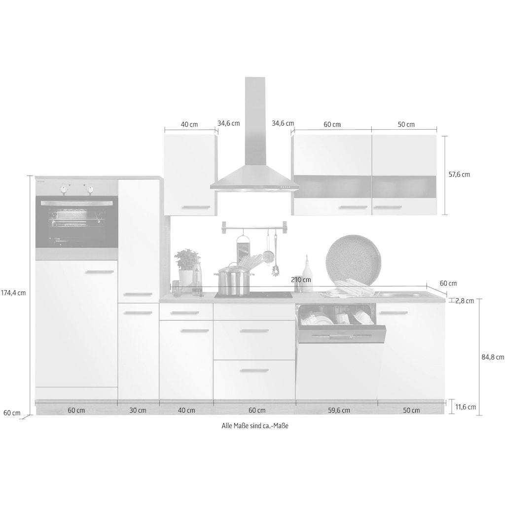 OPTIFIT Küchenzeile »Kalmar«, mit E-Geräten, Breite 300 cm