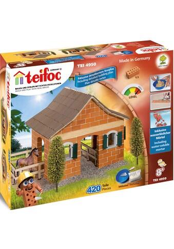 teifoc Konstruktions-Spielset »Großer Pferdestall«, (420 St.), Made in Germany kaufen