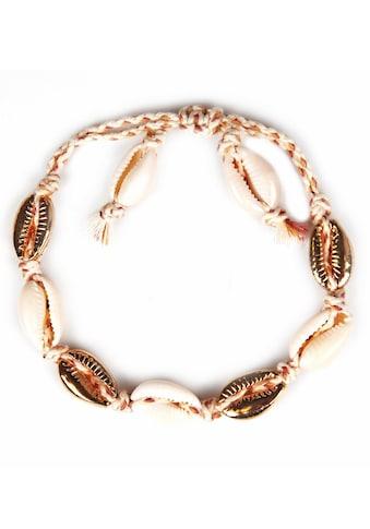 J.Jayz Armband »geflochtenes Band, teilweise mehrreihig, mit Muschelelementen«, mit... kaufen