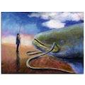 Artland Glasbild »Einen dicken Fisch an Land ziehen«, Wassertiere, (1 St.)