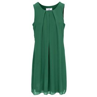 b38fa688d773f8 heine STYLE Chiffonkleid mit Falten in grün im Online Shop von Baur Versand