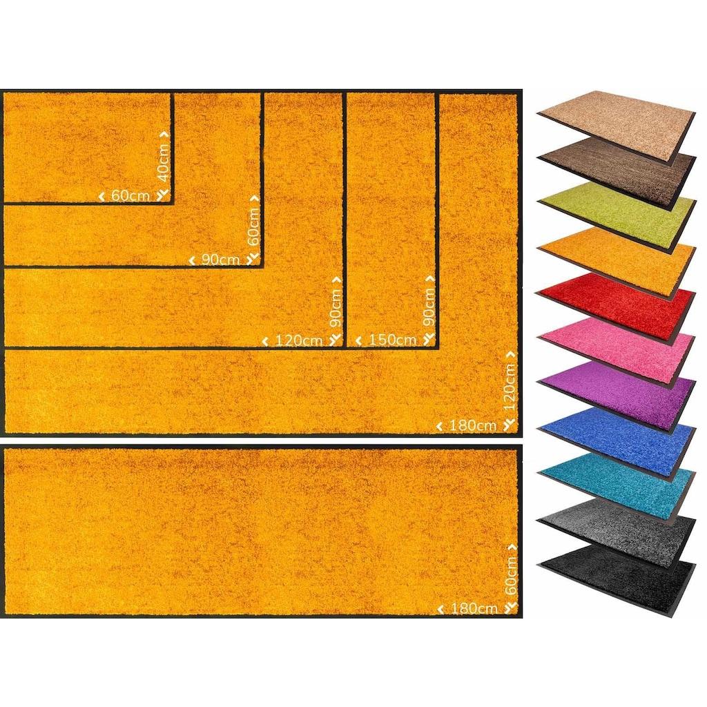 Primaflor-Ideen in Textil Fußmatte »CLEAN«, rechteckig, 9 mm Höhe, Fussabstreifer, Fussabtreter, Schmutzfangläufer, Schmutzfangmatte, Schmutzfangteppich, Schmutzmatte, Türmatte, Türvorleger, In- und Outdoor geeignet, waschbar