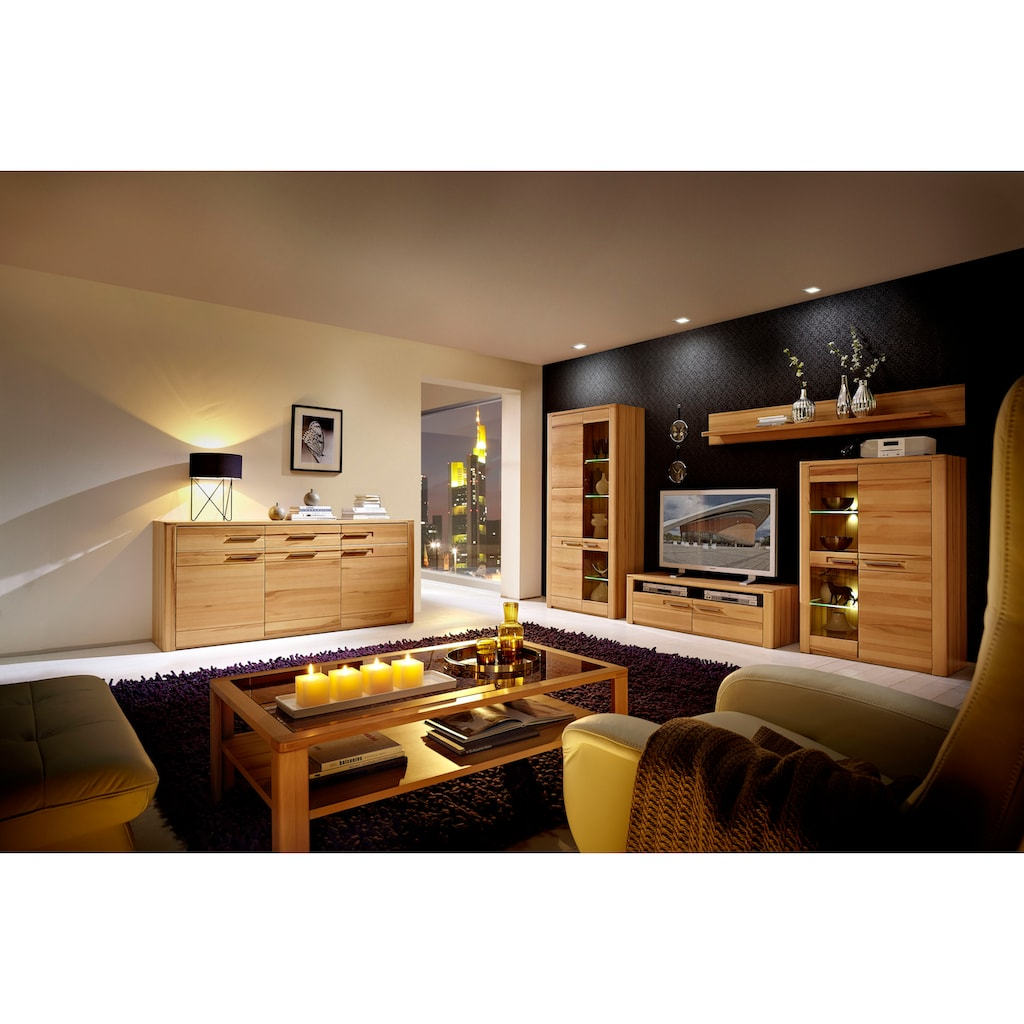 Innostyle Wohnwand »Nature Plus«, (Set, 4 St.), inkl. LED-Beleuchtung, mit Soft-Close-Funtion
