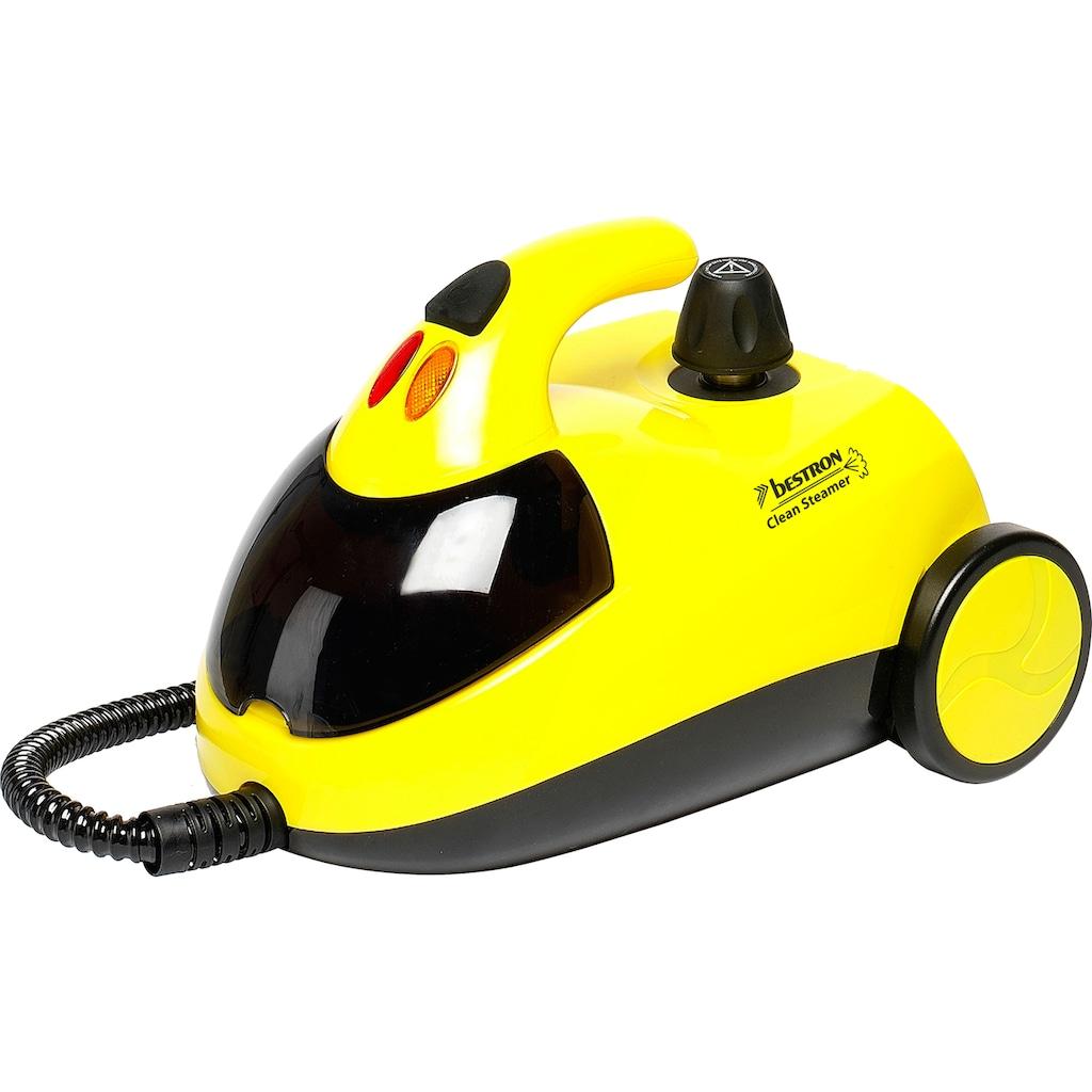 bestron Dampfreiniger »DWJ5280 mit Zubehör-Set«, und Kindersicherung, Kapazität: 1,5 l, Aktionsradius: 10 m, 4 Bar, Gelb