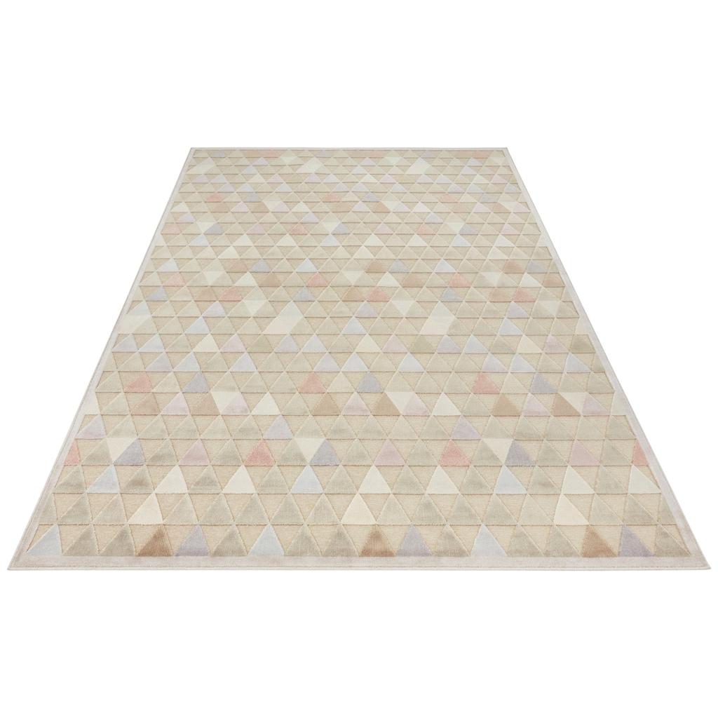 ELLE Decor Teppich »Aisne«, rechteckig, 8 mm Höhe, Hoch-Tief-Struktur, Wohnzimmer