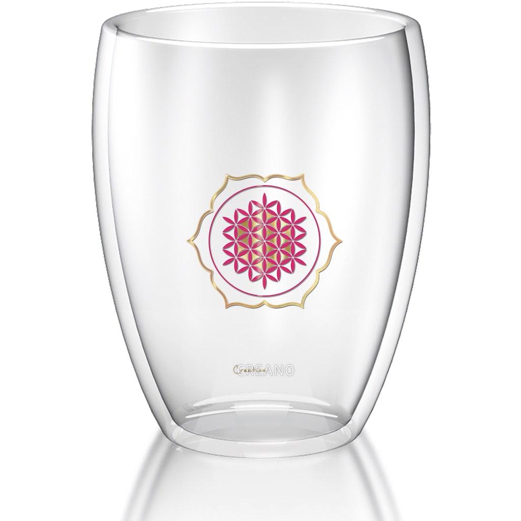 Creano Glas, (Set, 3 tlg.), mundgeblasen, 3-teilig
