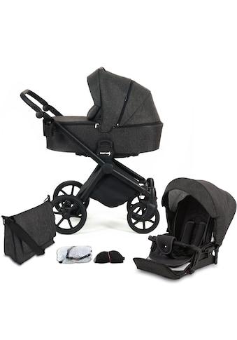 Knorrbaby Kombi-Kinderwagen »Life+ 2.0 Black Edition, Schiefer«, 15 kg, Gestell... kaufen