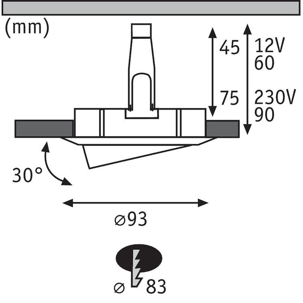 Paulmann LED Einbaustrahler »Nova rund max. 35W Eisen 1er-Set schwenkbar GU10 oder GU5,3«, GU 5,3-GU10, 1 St.