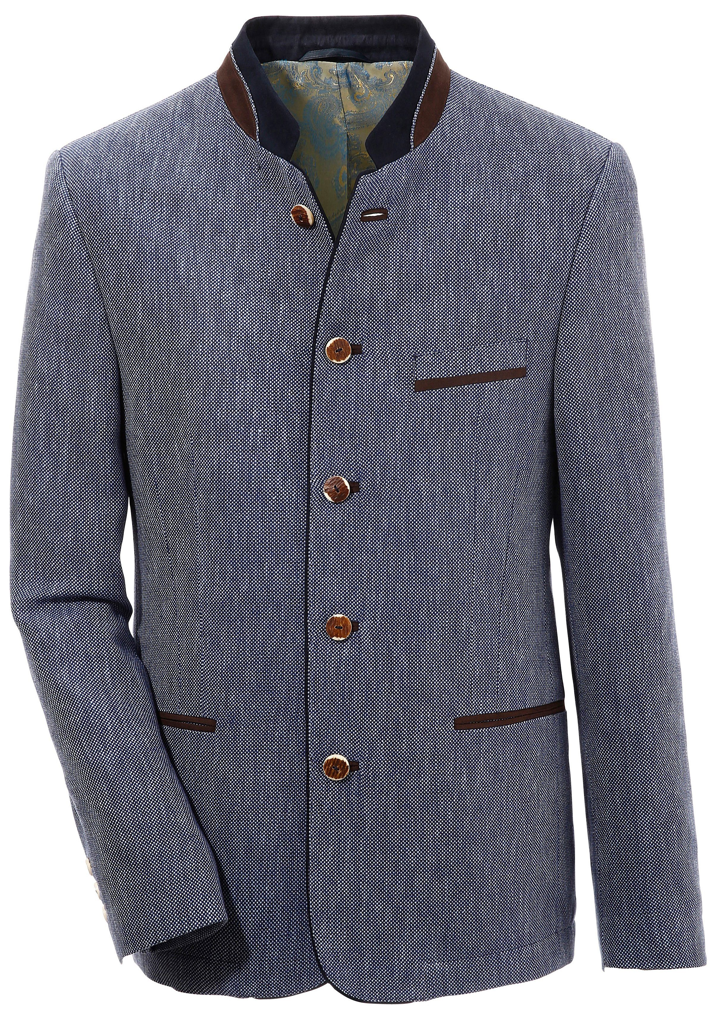 Murk Trachtensakko mit Schulterpolster | Bekleidung > Sakkos > Trachtensakkos | Blau | Murk