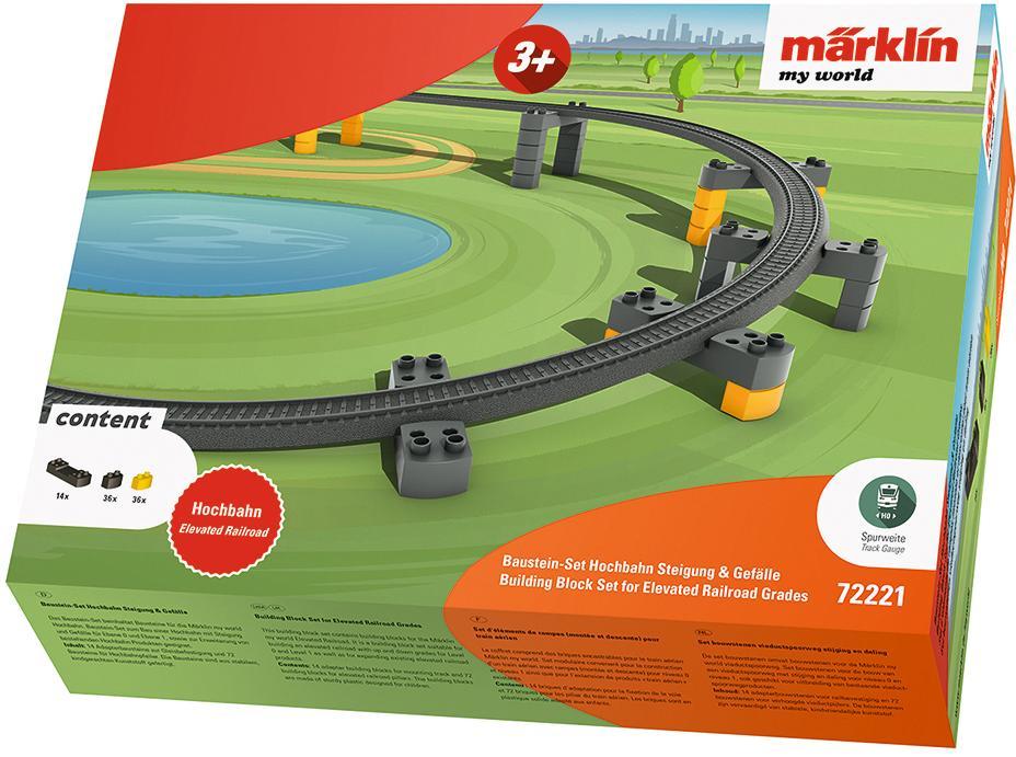 Märklin Modelleisenbahn-Hochbahn my world - Baustein-Set Hochbahn Steigung & Gefälle 72221 bunt Kinder Schienen Zubehör Modelleisenbahnen Autos, Eisenbahn Modellbau