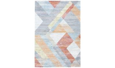 carpetfine Teppich »Fusion«, rechteckig, 5 mm Höhe, pastellfarbener Flachflorteppich, Wohnzimmer kaufen