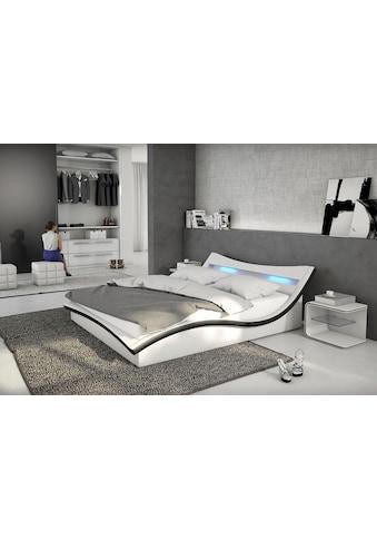 SalesFever Polsterbett, mit LED-Beleuchtung im Kopfteil, Design Bett in moderner Optik kaufen