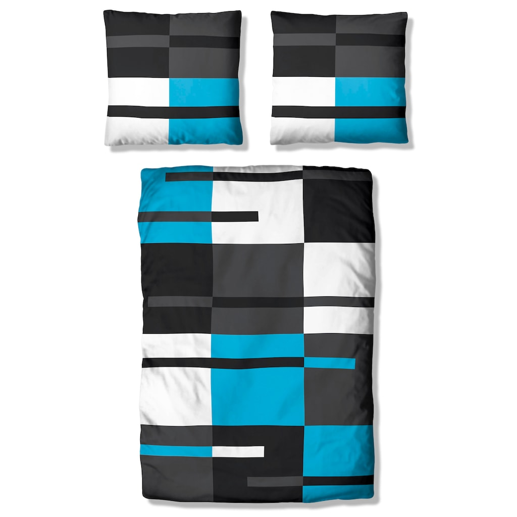 my home Bettwäsche »Meggi«, mit modernem Karo und trendigen Streifen