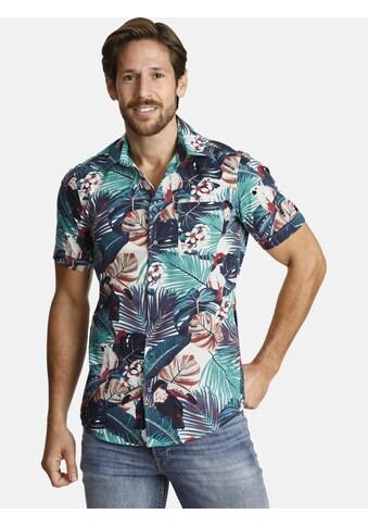SHIRTMASTER Kurzarmhemd »tropicfever«, tropischer All Over Print kaufen