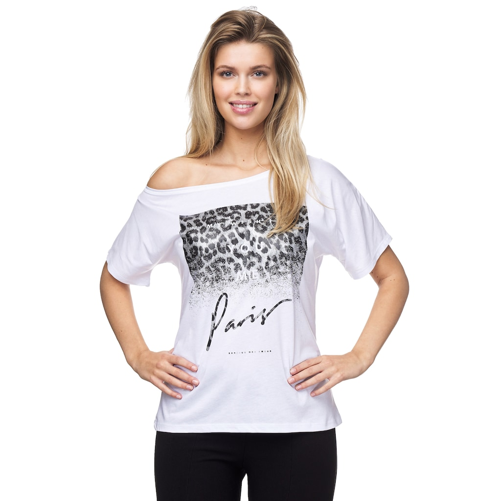 Decay T-Shirt, im One-Shoulder-Design