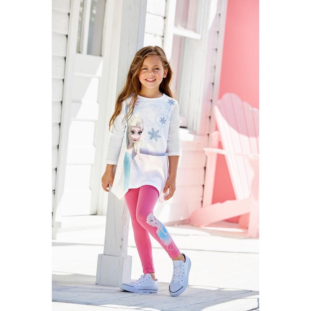 Disney Frozen Shirt & Leggings »Elsa«, mit Eiskönigin Motiv
