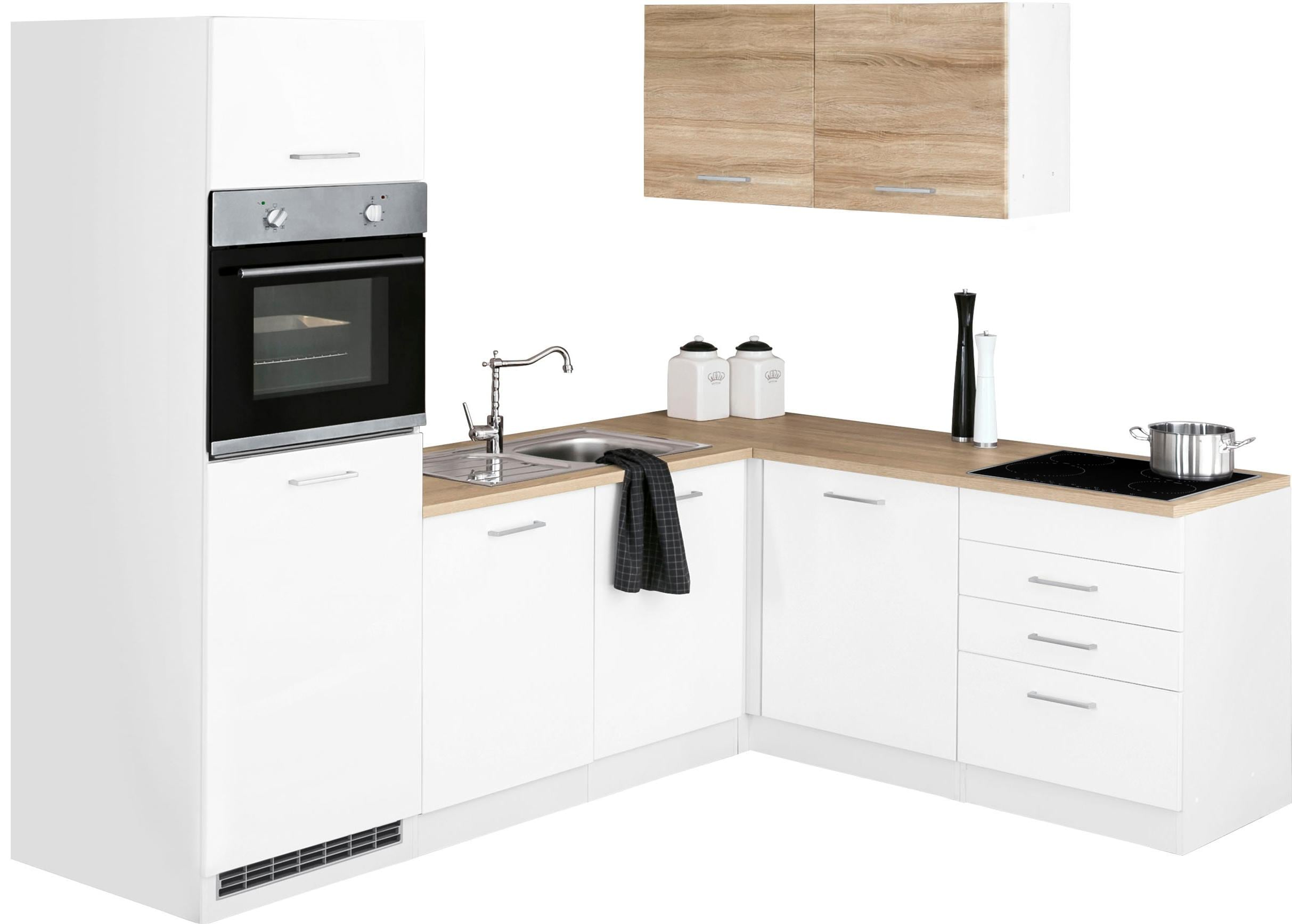 HELD MÖBEL Winkelküche »Visby«   Küche und Esszimmer > Küchen > Winkelküchen   Weiß   HELD MÖBEL