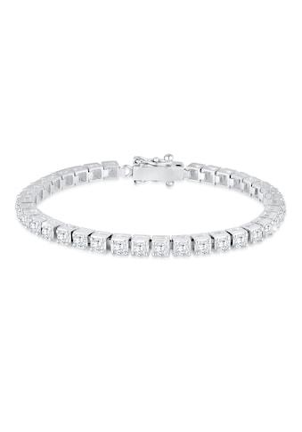 Elli Armband »Tennisarmband mit Zirkonia Kristalle 925 Silber« kaufen