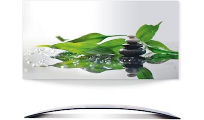 Artland Wandbild »Spa mit Steinen und Bambus«, Zen, (1 St.), 3D Optik gebogen kaufen