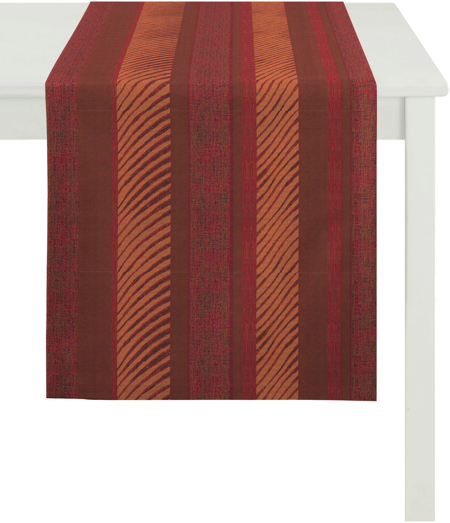 Apelt Tischläufer, 48x140 cm, »2904 Loft Style« | Heimtextilien > Tischdecken und Co > Tischläufer | Rot | Polyester | APELT