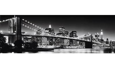 Reinders! Bild »New York - Brooklyn Bridge black &«, 90/30 cm kaufen