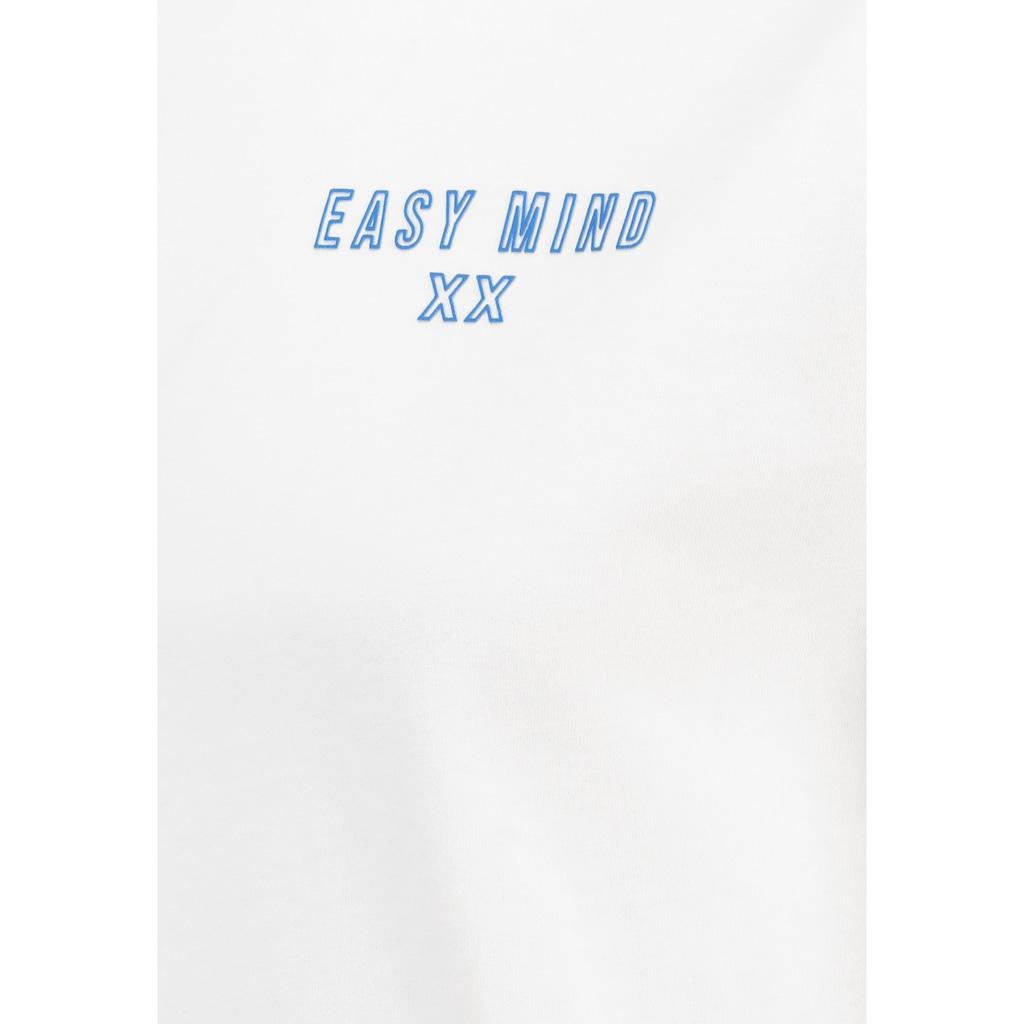 SUBLEVEL Rundhalsshirt, mit kleinem Print