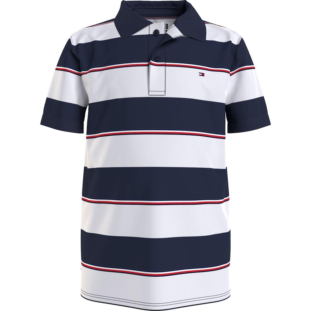 TOMMY HILFIGER Poloshirt »mit Blockstreifen«