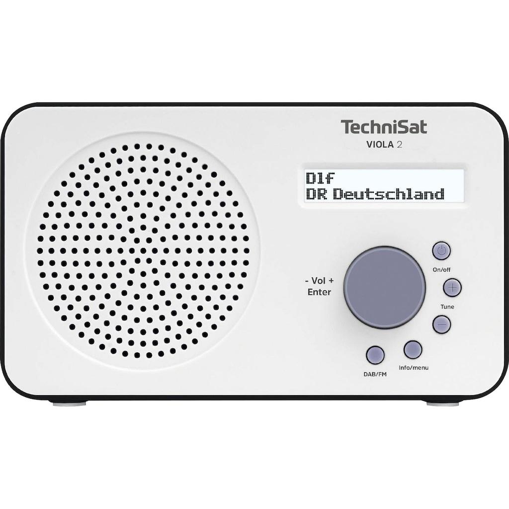 TechniSat Digitalradio (DAB+) »VIOLA 2 Tragbares«, ( Digitalradio (DAB+)-UKW mit RDS ), zweizeiliges Display, Batteriebetrieb möglich